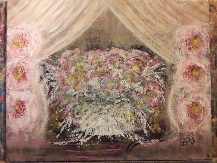 Original Acrylic Floral Painting - Artist Diane Russo....Creek Road Gallery
