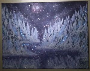 Snow Trees Original Landscape