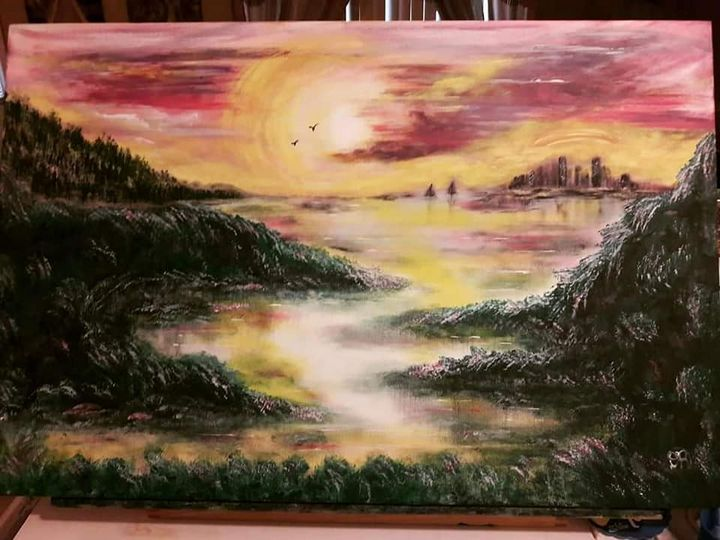 City Sky - Artist Diane Russo....Creek Road Gallery