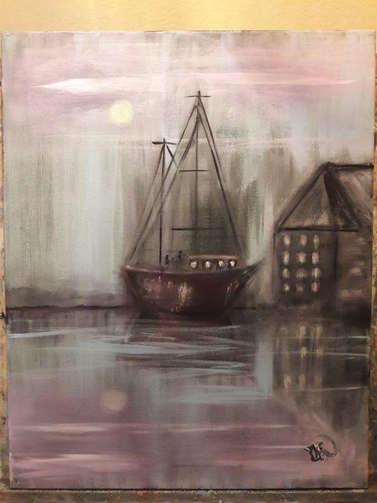 The Boat Dock - Artist Diane Russo....Creek Road Gallery