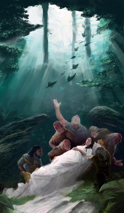 Snow White and the Seven Dwarves - Allen Morris Illustration
