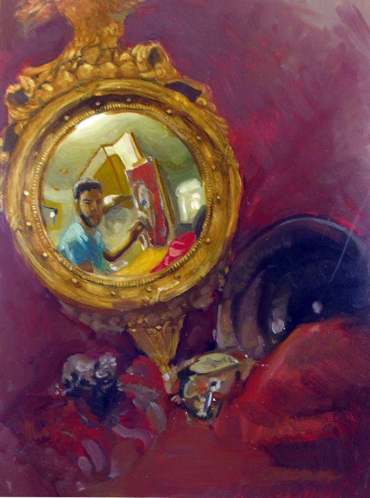 Still Life with Mirror - Allen Morris Illustration