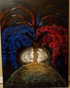 Original Painting Birth of a Phoenix