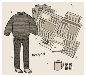 Newsprint Sweater