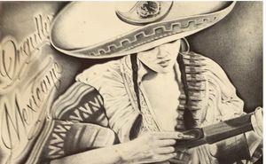 Lady with sombrero