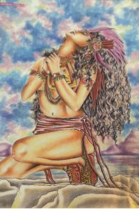 Aztec woman - Nalabear products