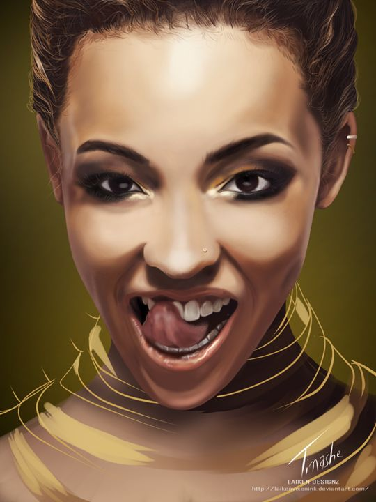 Fanart:- Digital Painting of Tinashe - Laiken Williams