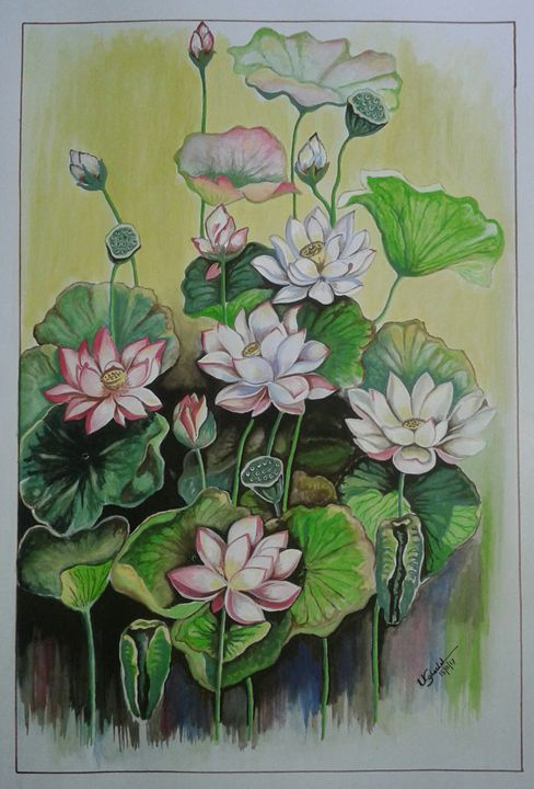 Lotus in nature - Ujwalart