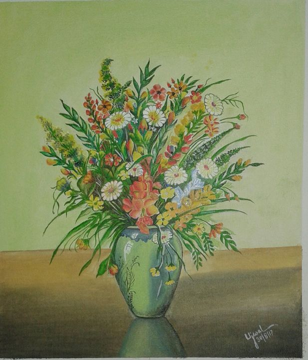 Flowers in vase - Ujwalart