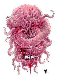 Blood Tentacle Horror Skull