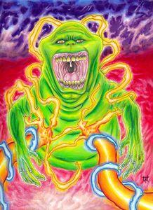Ghostbusters Slimer Art