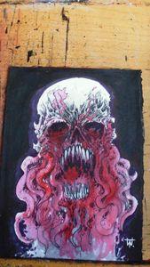 Blood Tentacle Horror Skull Art