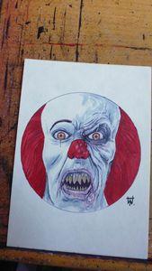 Pennywise It Clown Horror Art
