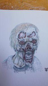 Walking Dead Walker Copic Sketch