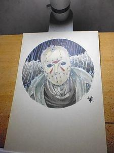 Jason Voorhees Round Original Art