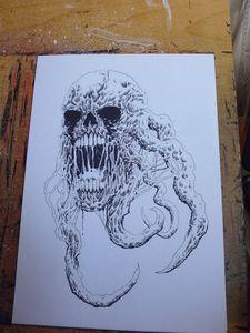 Dark Skull Creature Art