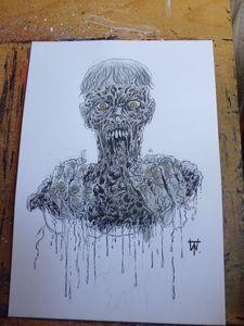 Zombie Eating  Rotten Flesh