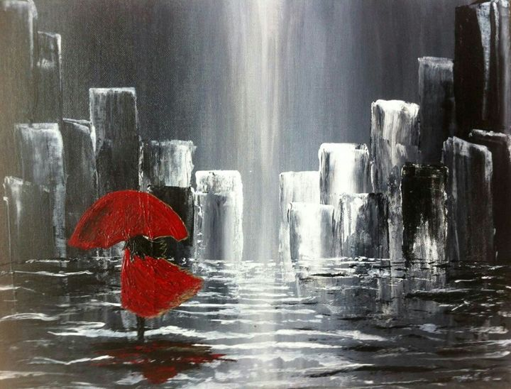 Girl In Rain - 2amArtGallery