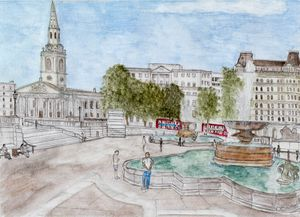 Trafalgar Square, London, September