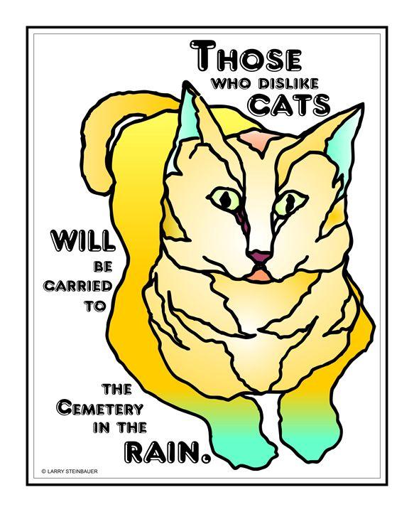 CEMETERY CAT - LARRY STEINBAUER