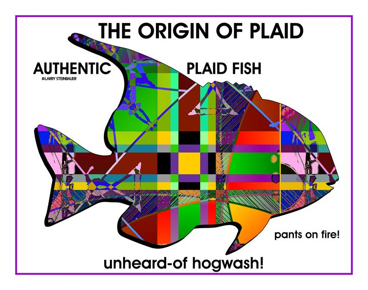 PLAID FISH - LARRY STEINBAUER