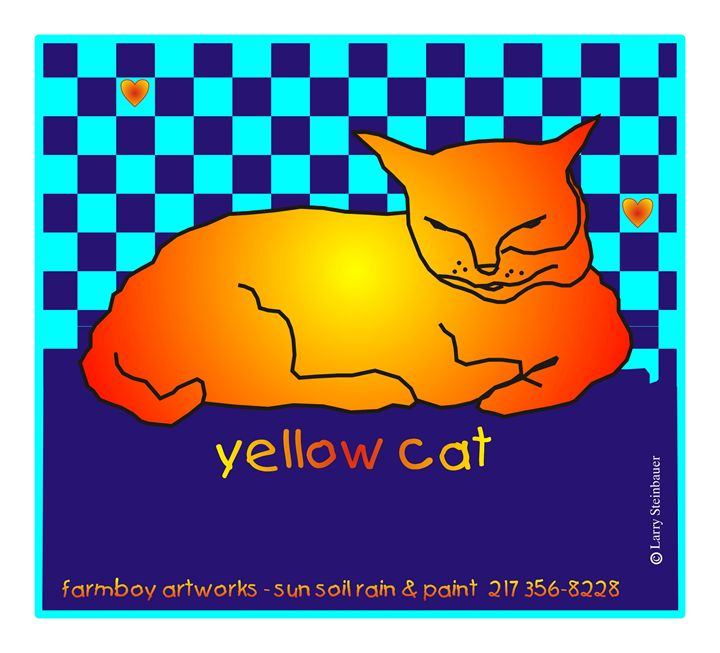 YELLOW CAT - LARRY STEINBAUER