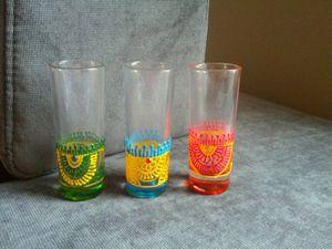 Set of henna shot glasses