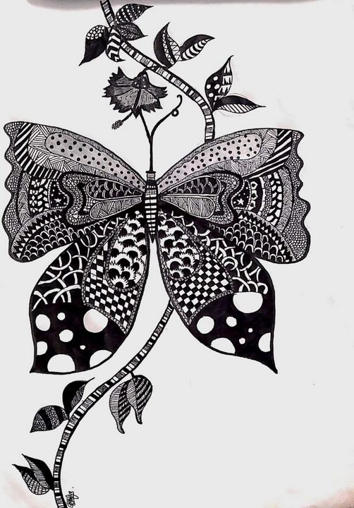 Doodlee butterfly - Get creative with Athu❤