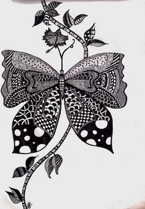 Doodlee butterfly