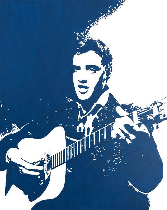 Elvis Presley on Stage - GordRussellArt