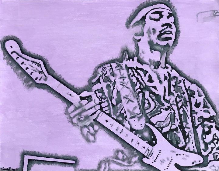 Jimi Hendrix on stage. - GordRussellArt