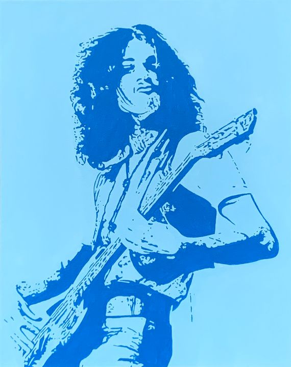 Andy Fraser of Free on stage - GordRussellArt