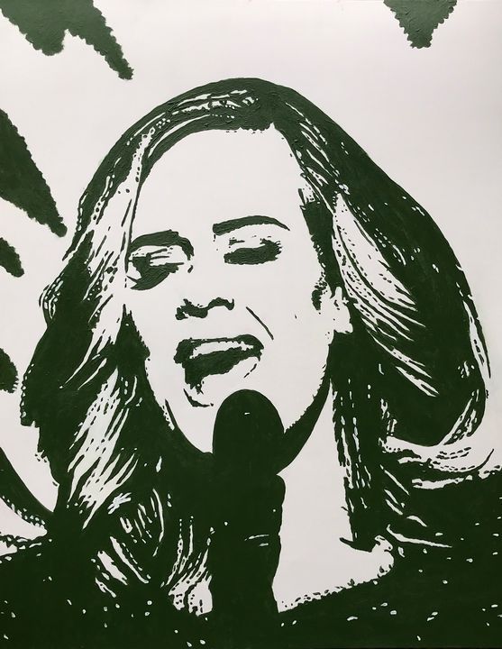 Adele on Stage. - GordRussellArt