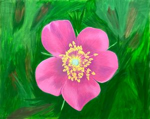 Wild Rose of Alberta - GordRussellArt