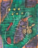 Original guitar abstract