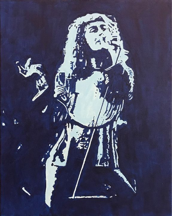 Robert Plant on Stage - GordRussellArt