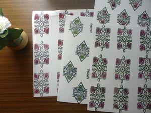 Handmade papers block print no. 4