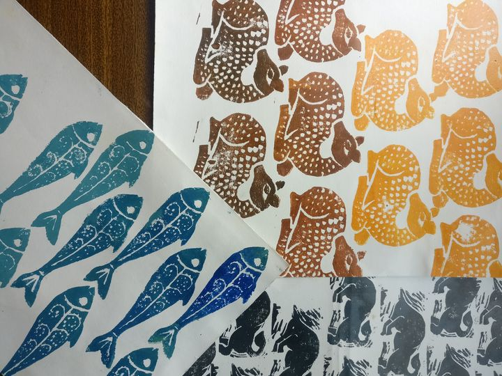 Handmade Papers Animal Prints 3 Nos Fab Prints Studio Paintings Prints Animals Birds Fish Deer Artpal