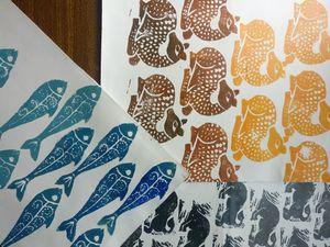 Handmade papers animal prints 3 nos.