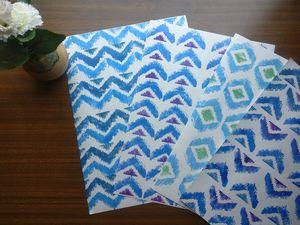 Handmade papers ikkat print 4 nos.