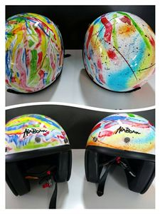 helmet pop art abstract