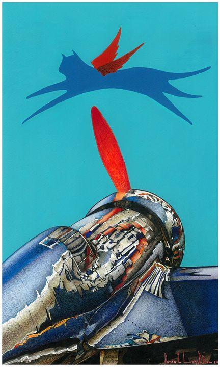 BOMBER FLYING WITH THUNDERBOLT - danile levy policar