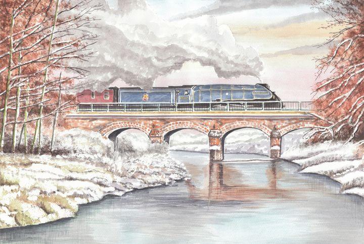 Steam Train, Sir Nigel Gresley - Papilios Creative