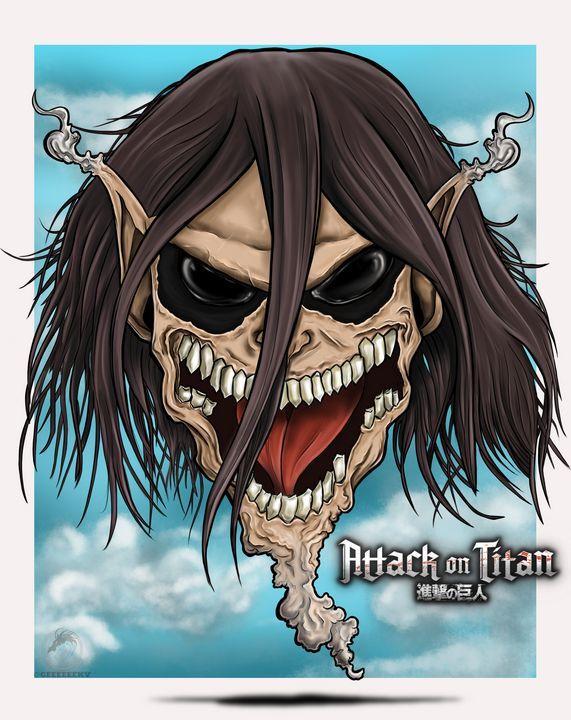 Attack on Titan Eren Head piece - Geeky
