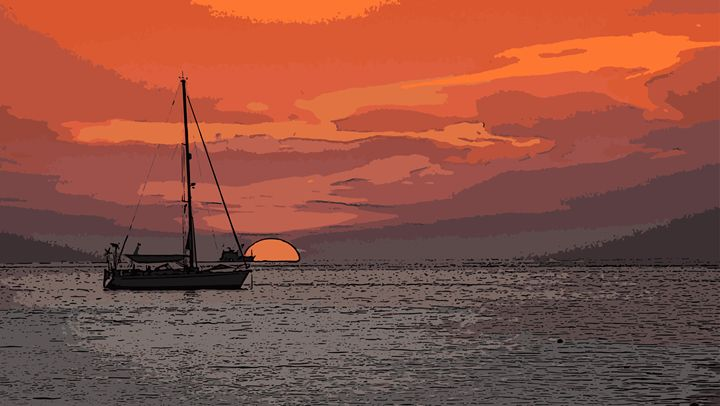 Sunset yacht - Magdalena Ziemak