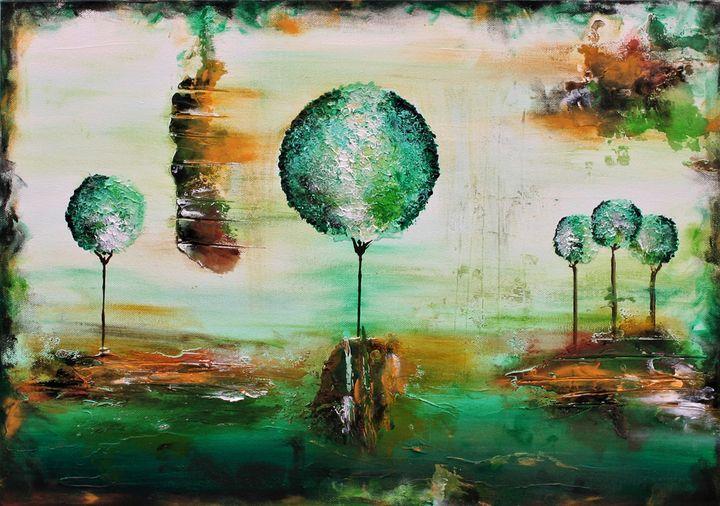 The Innocence of Autumn Textured - Susan Wooler