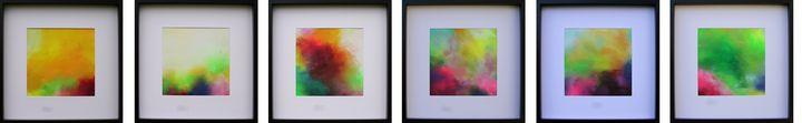 Summer Skies XXL 6 Abstract Painting - Susan Wooler