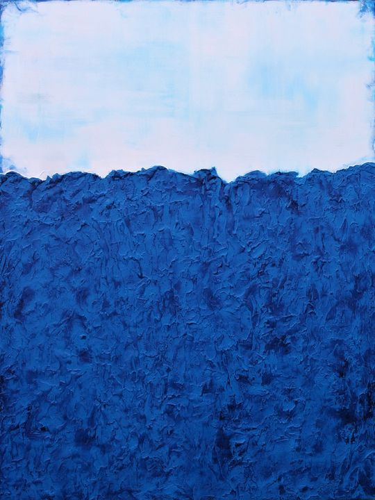XXL Ocean's Energy Textured Abstract - Susan Wooler