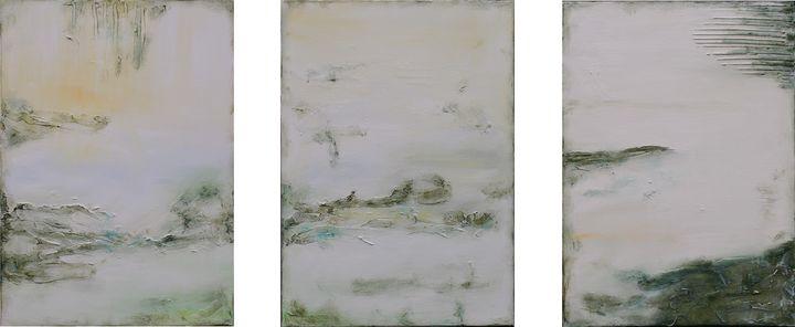 Sunlight On The Garden Triptych XL - Susan Wooler