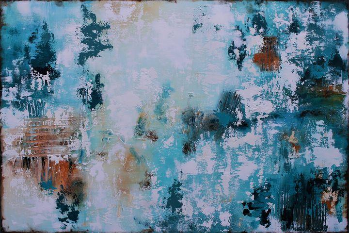 XXL Abstract Starlit Sky 120 X 80cm - Susan Wooler